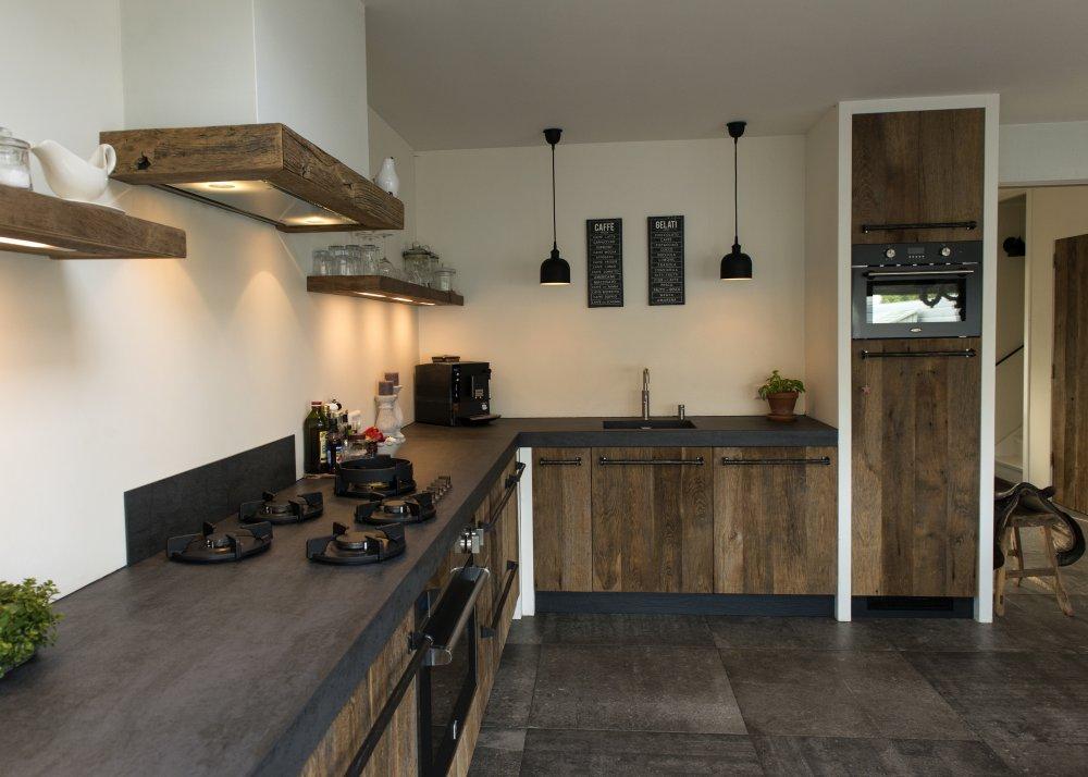 Landelijk Moderne Keukens : Restylexl oud eiken keuken in modern landelijke stijl product in