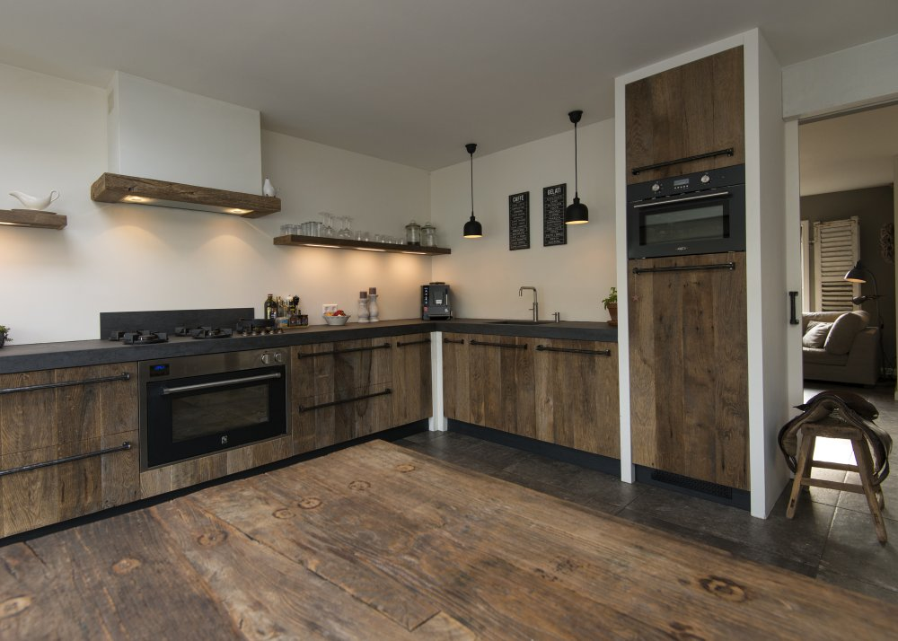 RestyleXL oud eiken keuken in modern landelijke stijl