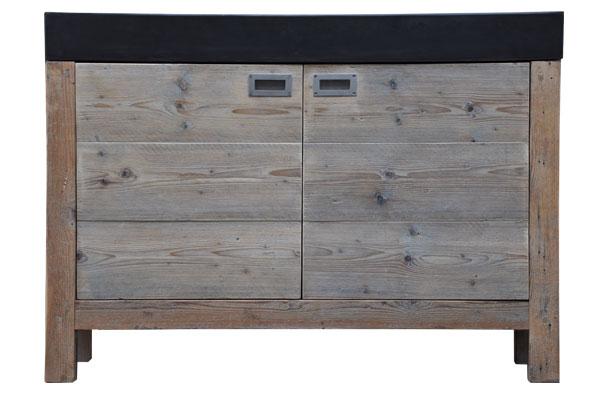 restylexl steigerhouten badkamermeubel product in beeld