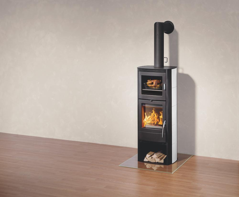Houtkachel met oven
