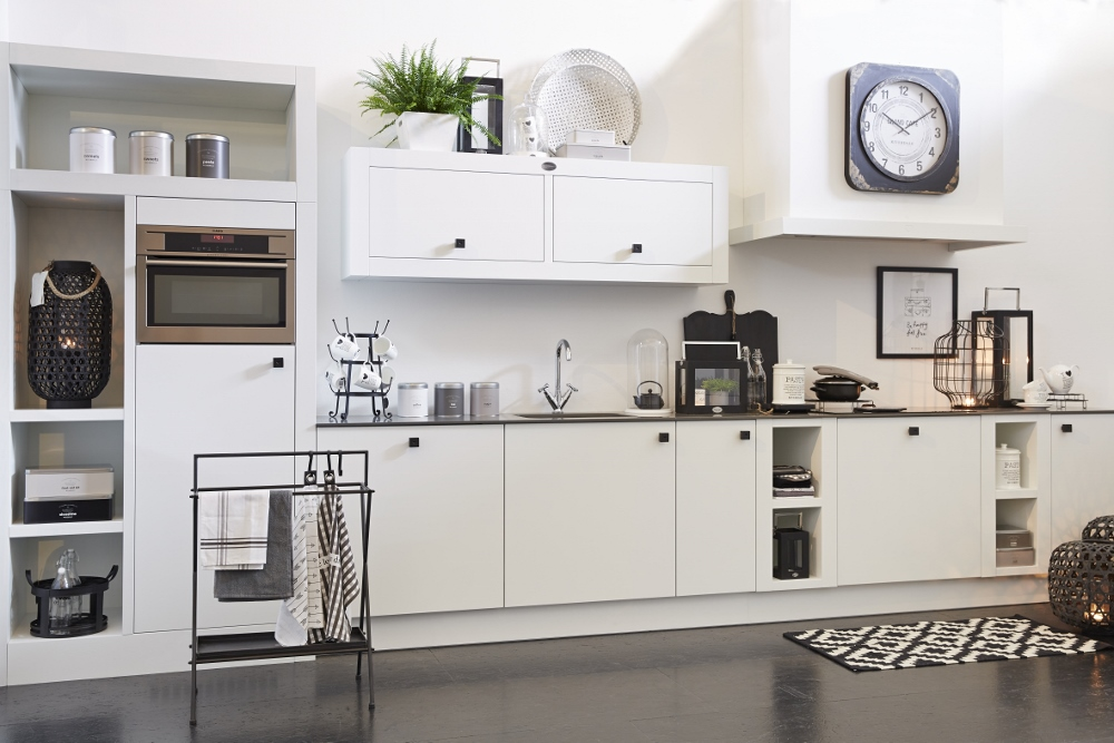 Houten Keuken Lades : Riverdale Natural wit houten keuken Product in beeld