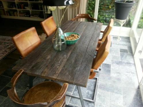 Robuuste industri le tafel product in beeld startpagina voor interieur en wonen idee n uw - Tafel eetkamer industriele ...