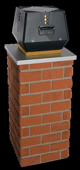 Rookgasventilator voor houthaard
