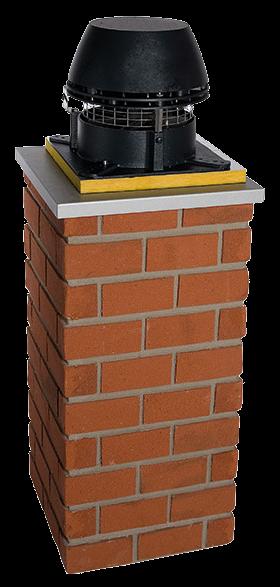 Rookgasventilatoren met horizontale uitblaas