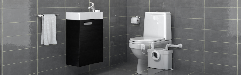 Sanibroyeur extra toilet met SANIPRO® Silence