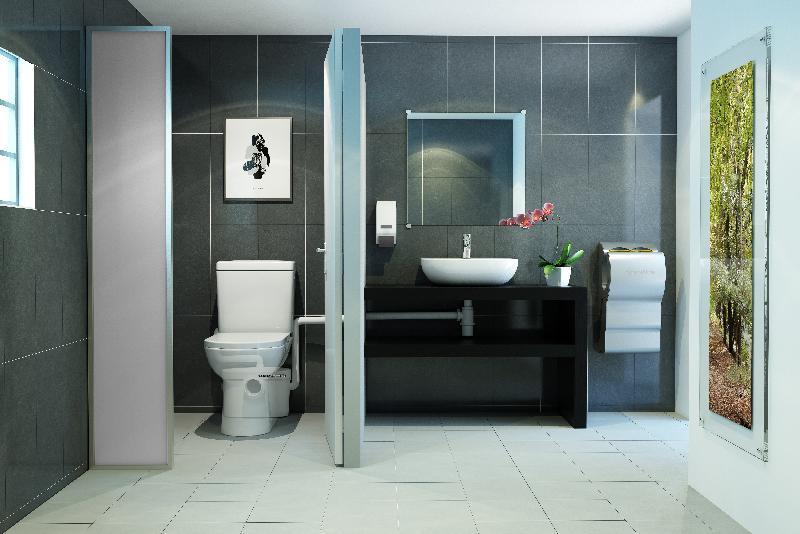 Compacte vermaler voor toilet en wastafel | Sanibroyeur
