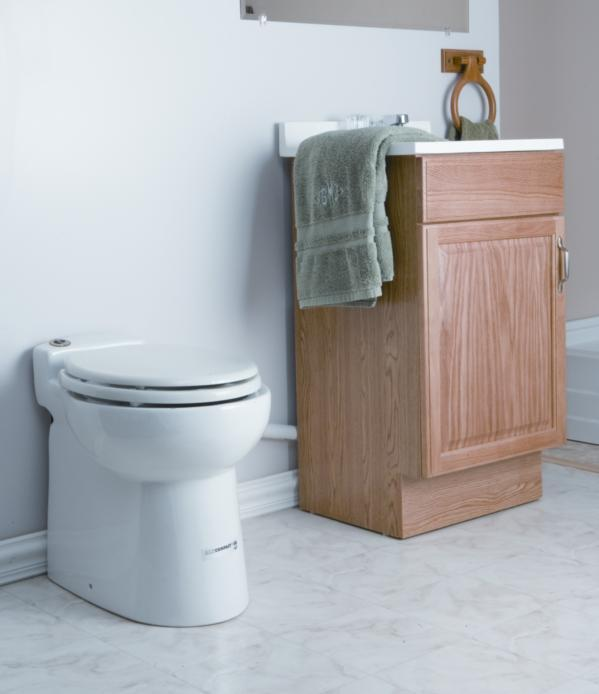 Sanibroyeur SANICOMPACT® 48 Eco+ traditioneel toilet