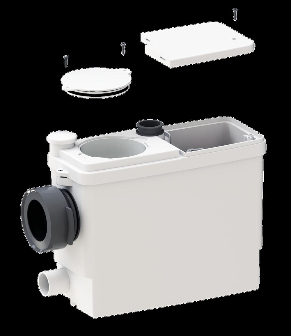 sanibroyeur sanipack pro up voor complete badkamer product in beeld startpagina voor. Black Bedroom Furniture Sets. Home Design Ideas