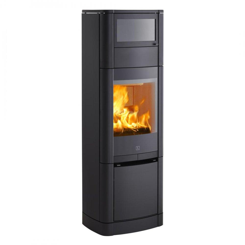 scan 65 5 6 houtkachel met bakoven product in beeld. Black Bedroom Furniture Sets. Home Design Ideas