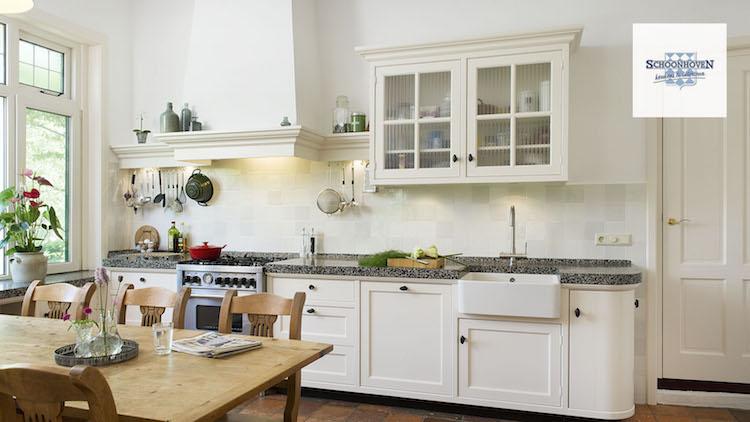 Keuken met terrazzo werkblad