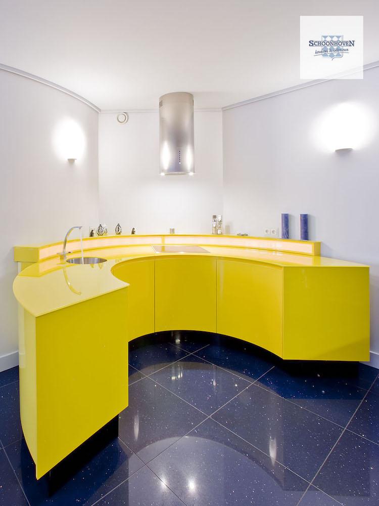 Moderne keuken met ronde vorm