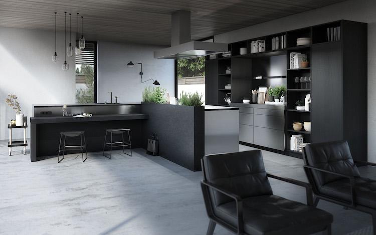 Stijlvolle keuken in donker eiken | SieMatic
