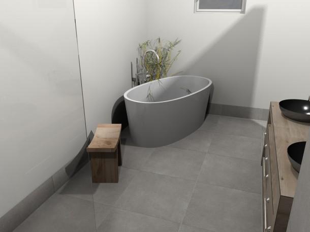 Warme voeten in de badkamer