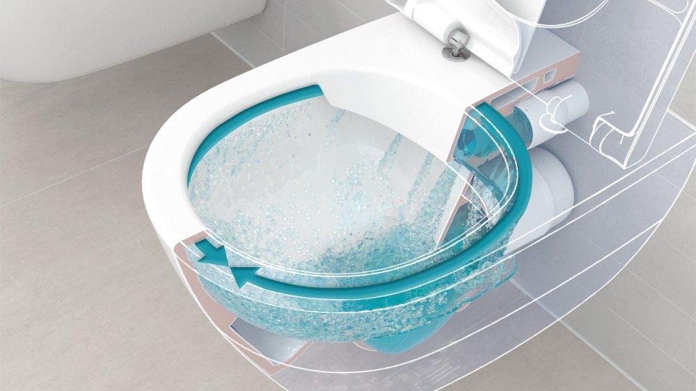 Spoelrandloos toilet van villeroy & boch product in beeld