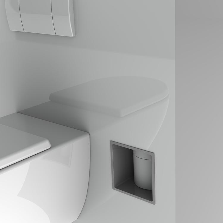 Ingebouwde dispenser voor toiletpapier