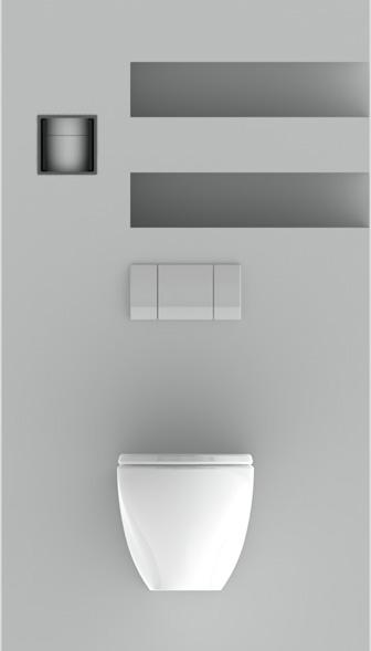 Ingebouwde wc rolhouder | Stock4Rolls®