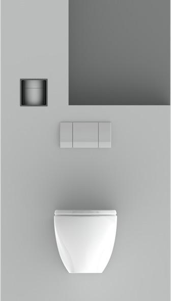 Stijlvolle inbouw closetrolhouder | Stock4Rolls®