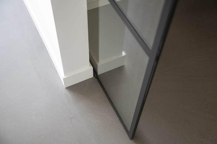 Staaleffect taatsdeur met wanden | Stylish Glass