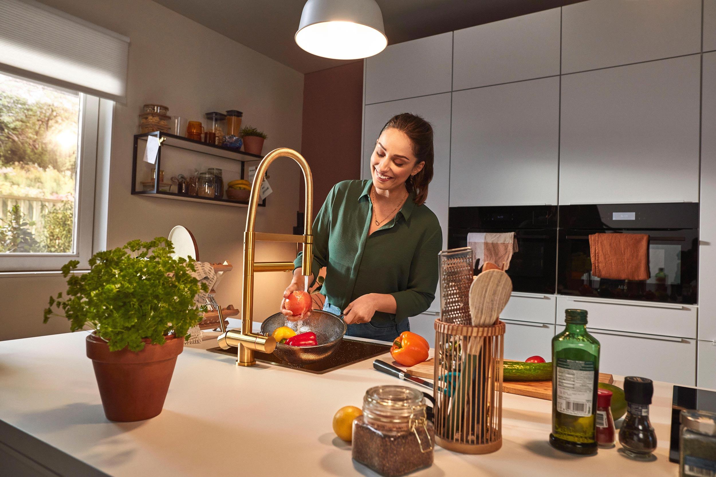 Superkeukens witte matlak keuken Felino