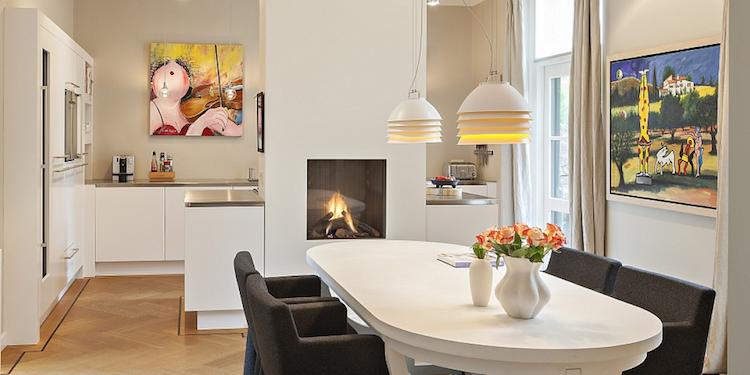 Op maat gemaakte witte keuken