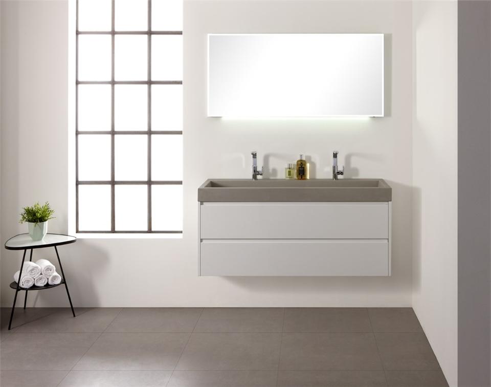 Thebalux betonnen wastafel allure product in beeld badkamer