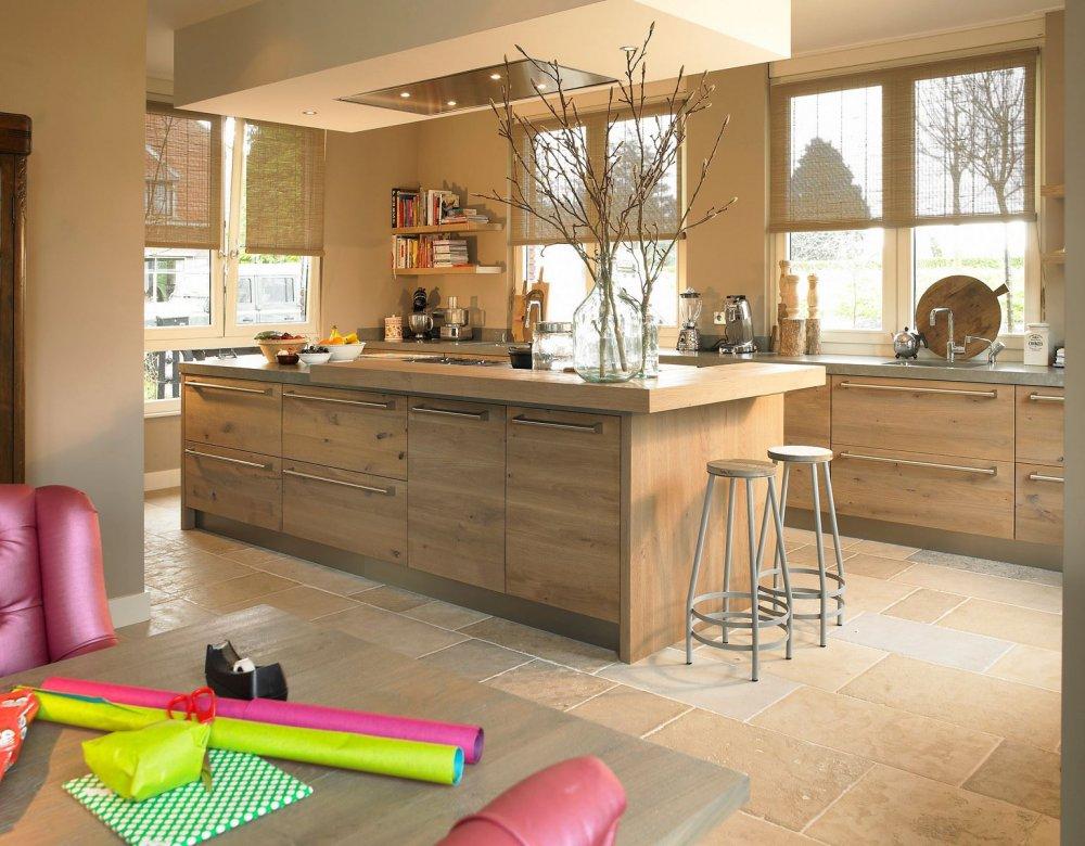 Keuken Fineer Hout : Tieleman houten woonkeuken model Welsh – Product in beeld -