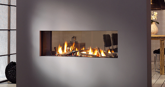 Trimline frameless gashaard van Home fire