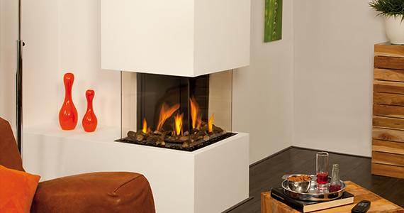 Trimline inbouw gashaard hoekmodel van Home Fire