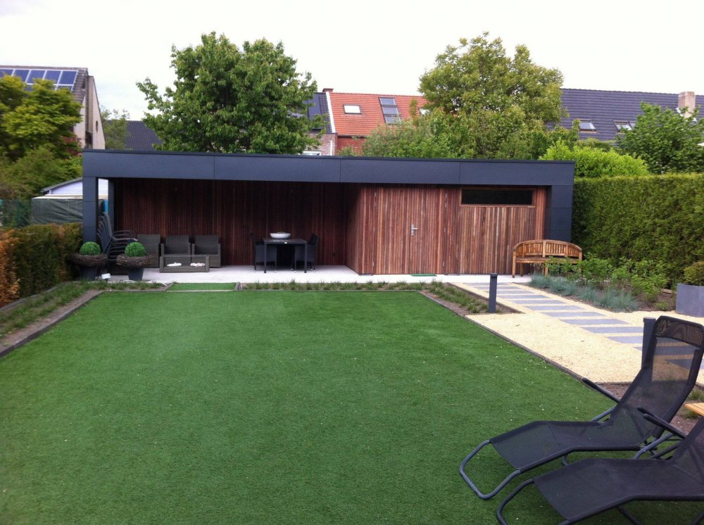 Tuinhuis Cubic met luifel Volkern - Product in beeld - Startpagina ...