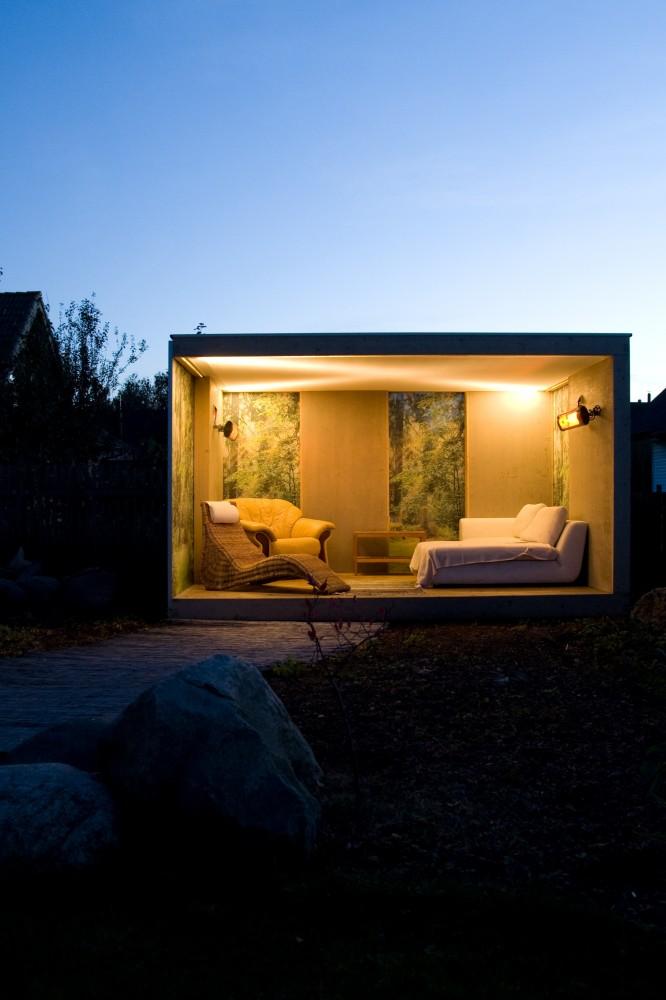 Tuinpaviljoen - overkapping Cube