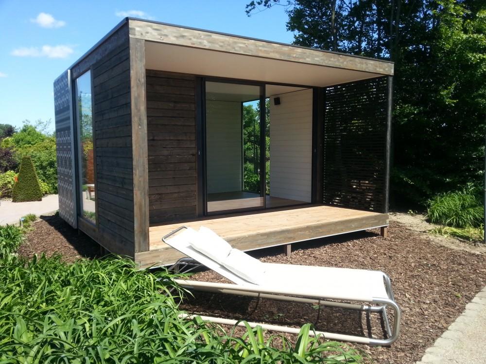 Tuinpaviljoen overkapping cube garden room pinterest for Garden office cube