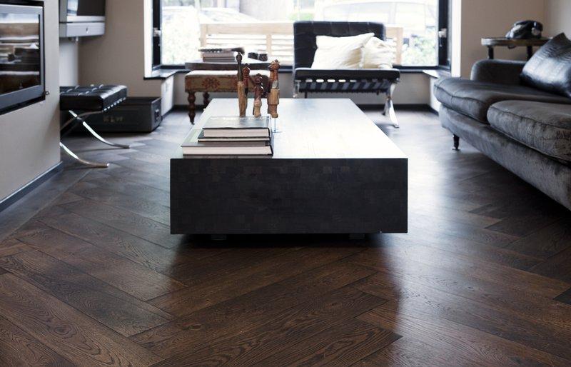 Uipkes eiken houten vloer op vloerverwarming