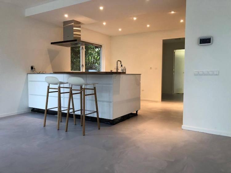 Gietvloer met betoneffect | Unica