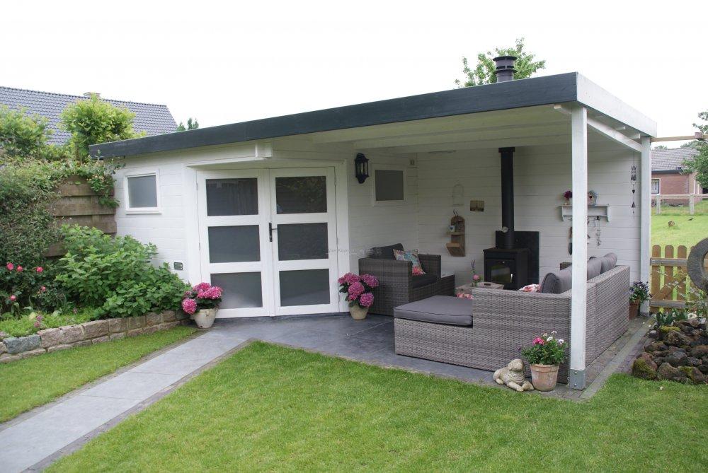 Van kooten blokhut met overkapping product in beeld startpagina voor tuin idee n uw - Fotos terras ...