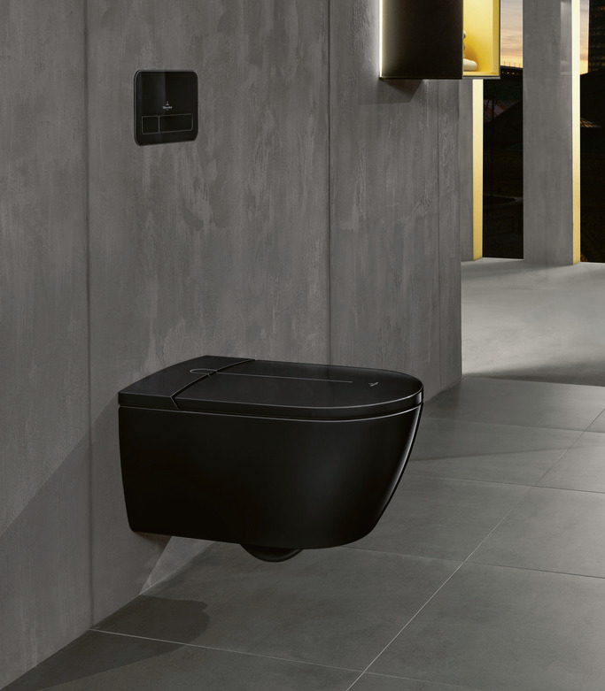 Zwart toilet douche-wc ViClean-I 100