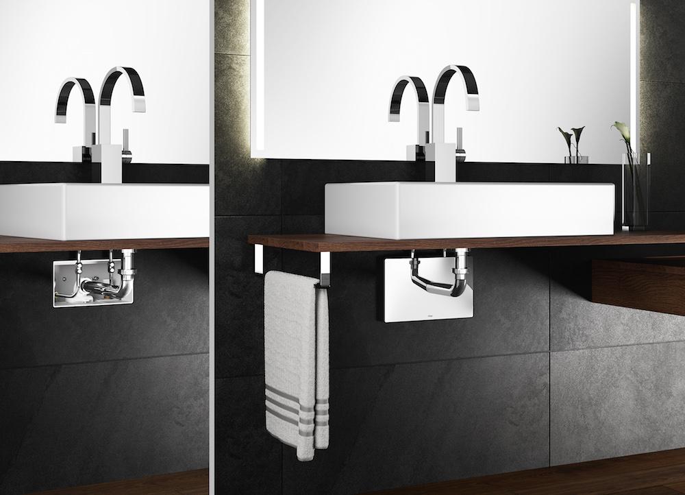 Viega inbouw aansluitbox onder wastafel product in beeld for Wastafel aansluiten