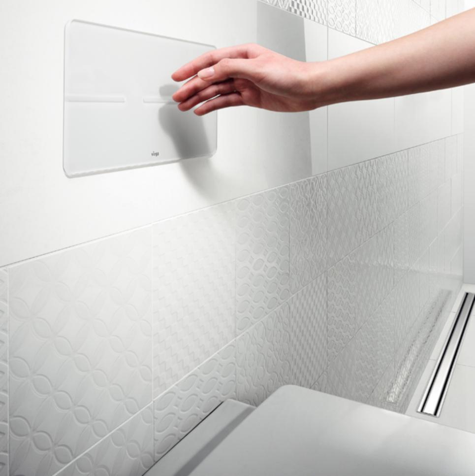 Toilet spoelen zonder contact | Viega