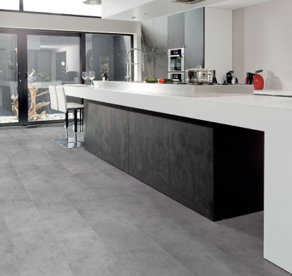 Viligno LVT light grey tile voor de keuken