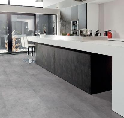 Viligno LVT light grey tile voor de keuken