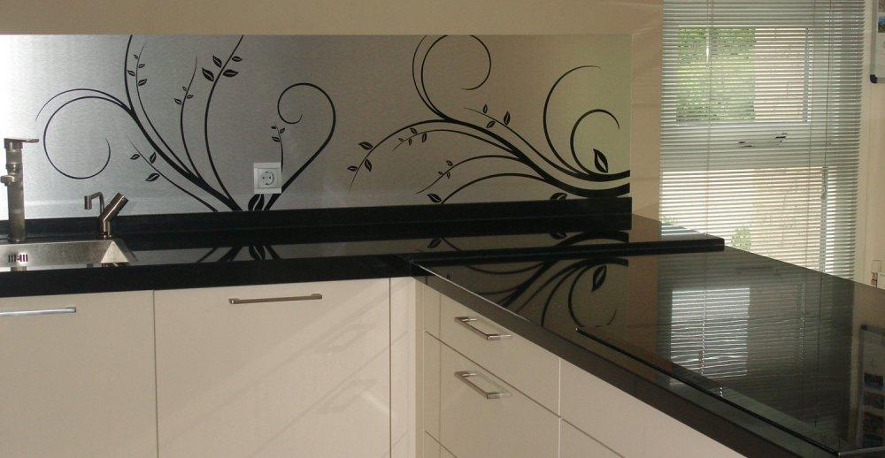 Visualls keukenachterwand Curlz RVS - Product in beeld ...