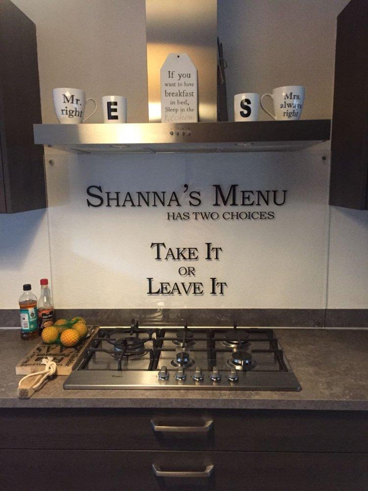 Persoonlijke keuken achterwand