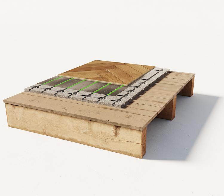 Vloerverwarming op houten ondervloer | WARP systems
