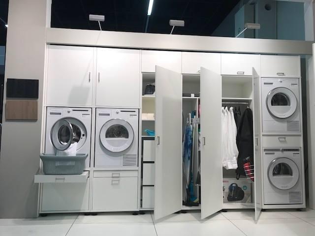 Inbouwkast wasmachine bijkeuken | Wastoren