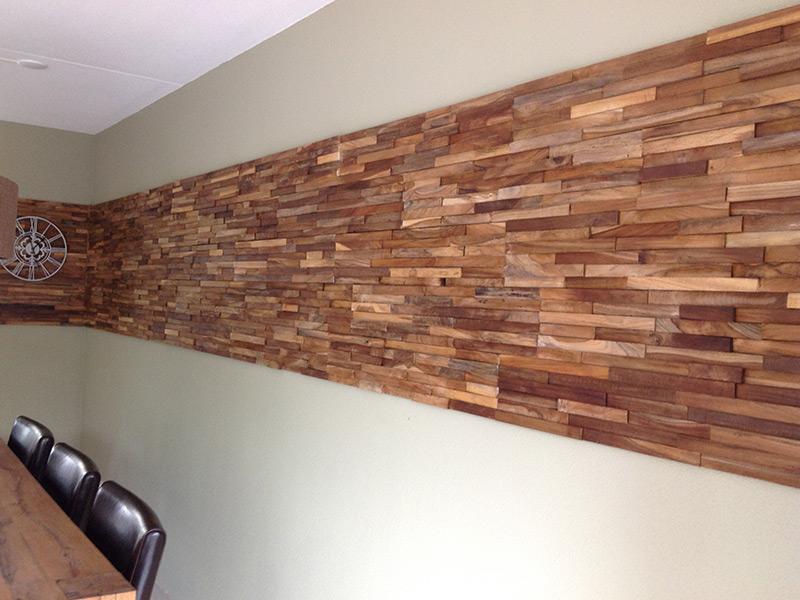 Wand maken met hout beste inspiratie voor huis ontwerp - Wandbekleding voor wc ...