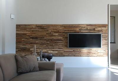 Woodindustries wandbekleding houtstrips product in beeld startpagina voor interieur en wonen - Naakt in haar woonkamer ...