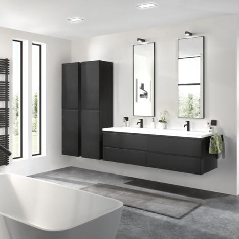 Badkamer in zwart en wit | X2O