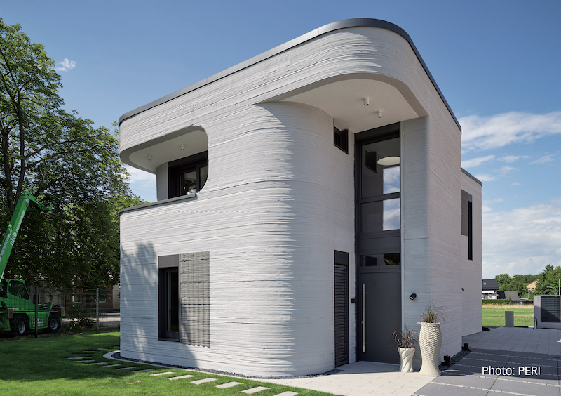 Meister lindura houten vloer in 3d geprint huis