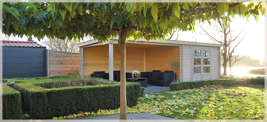 Een blokhut als gastenverblijf of tweede woning? Erg aantrekkelijk! #blokhut #tuin #tuininspiratie