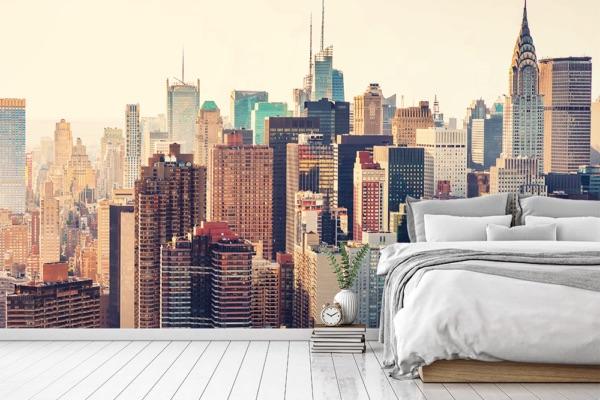 Behang met print op rol #behang #slaapkamer #panelit