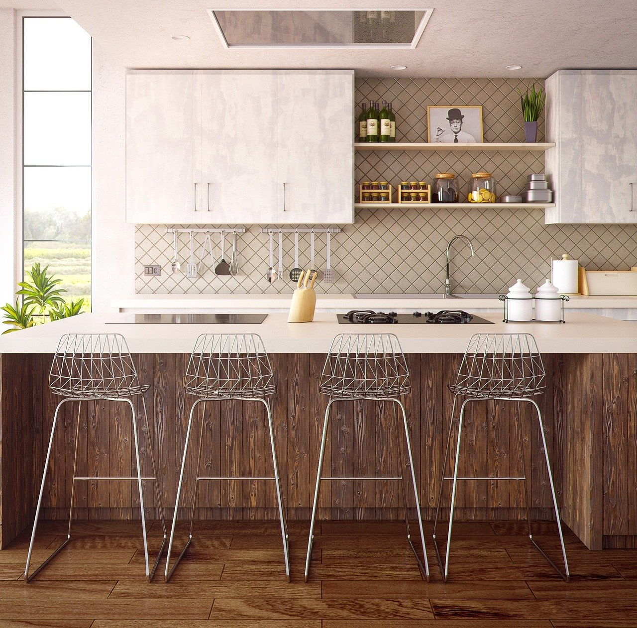 5 benodigdheden in een open keuken #woonkeuken #keuken #leefkeuken #keukenidee #inspiratie #wonen